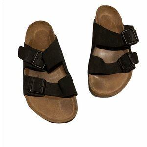 Birkenstock Arizona Two Strap Suede Leather Slides
